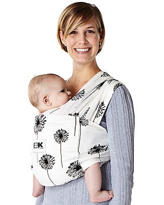 Baby K'tan Fascia Portabebè Ergonomica 5 in 1 Facilissima, Dente di Leone - 100% cotone - Si indossa come una t-shirt! Marsupi