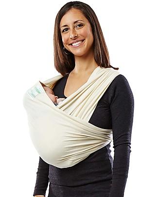 Baby K'tan Fascia Portabebè Ergonomica 5 in 1 Facilissima, Natural - 100% Cotone Biologico GOTS - Si indossa come una t-shirt! Fasce Portabebé