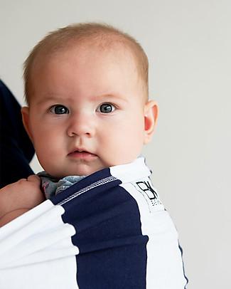 Baby K'tan Fascia Portabebè Ergonomica 5 in 1 Facilissima, Righe Navy - 100% cotone - Si indossa come una t-shirt! Marsupi