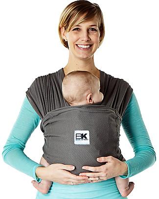 Baby K'tan Fascia Portabebè Ergonomica 6 in 1 Breeze Traspirante, Carbone - 100% cotone - Si indossa come una t-shirt! Marsupi