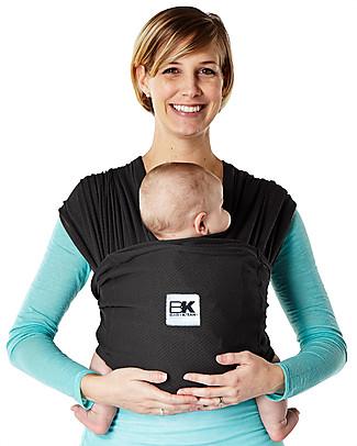 Baby K'tan Fascia Portabebè Ergonomica 6 in 1 Breeze Traspirante, Nero - 100% cotone - Si indossa come una t-shirt! Marsupi