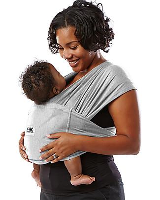 Baby K'tan Fascia Portabebè Ergonomica Facilissima 5 in 1, Grigio chiaro - 100% Cotone - Si indossa come una t-shirt! Marsupi
