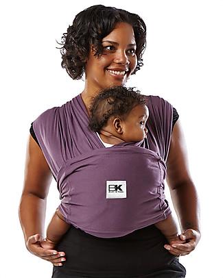 Baby K'tan Fascia Portabebè Ergonomica Facilissima 5 in 1, Melanzana - 100% Cotone - Si indossa come una t-shirt! Fasce Portabebé