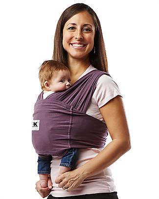 Baby K'tan Fascia Portabebè Ergonomica Facilissima 5 in 1, Melanzana - 100% Cotone - Si indossa come una t-shirt! Marsupi