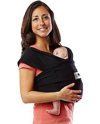Baby K'tan Fascia Portabebè Ergonomica Facilissima 5 in 1, Nero - 100% Cotone - Si indossa come una t-shirt! Fasce Portabebé