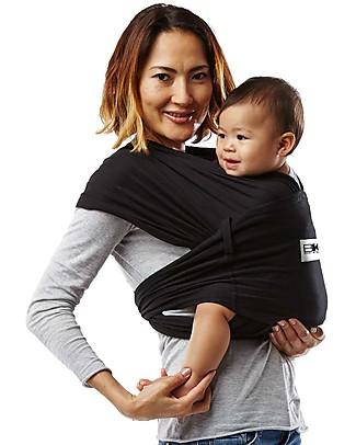 Baby K'tan Fascia Portabebè Ergonomica Facilissima 5 in 1, Nero - 100% Cotone - Si indossa come una t-shirt! Marsupi
