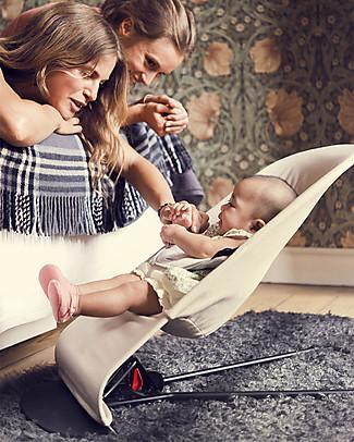 BabyBjörn Sdraietta Balance Soft, Kaki + Beige - 100% cotone, fino a 2 anni! Sdraiette