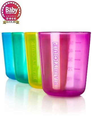Babycup Prima Tazza Bimbi 0-36 mesi – Set 4 Pezzi Multicolore - Premiato da Ostetriche e Dentisti Tazze e Bicchieri