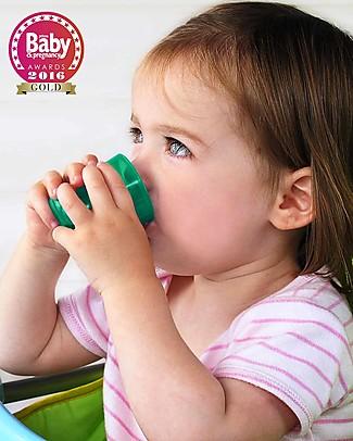 Babycup Prima Tazza Bimbi 0-36 mesi – Set 4 Pezzi Verde - Premiato da Ostetriche e Dentisti Tazze e Bicchieri