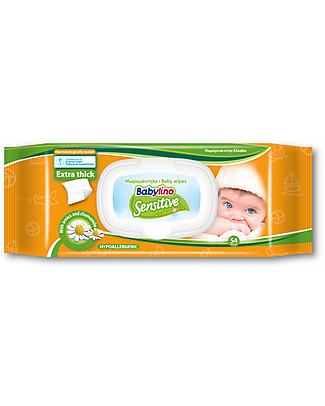 Babylino Salviettine Sensitive Profumate 54 pz  Pannolini Biodegradabili