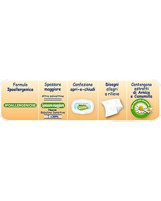 Babylino Salviettine Senza Fragranza 54 pz - Estratto di Arnica e Camomilla Pannolini Biodegradabili