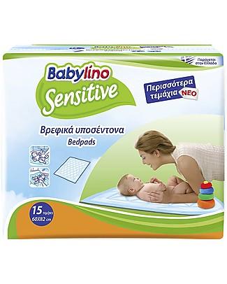 Babylino Traversine Sensitive 82x60 15 Pz - Massima Assorbenza! Pannolini Biodegradabili