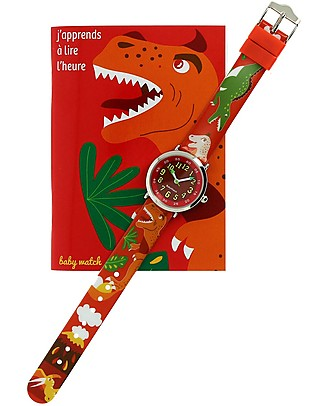 BabyWatch Bon Heure Orologio Pedagogico - Dinosauro (Perfetto già dai 4 anni!) Orologi Pedagogici