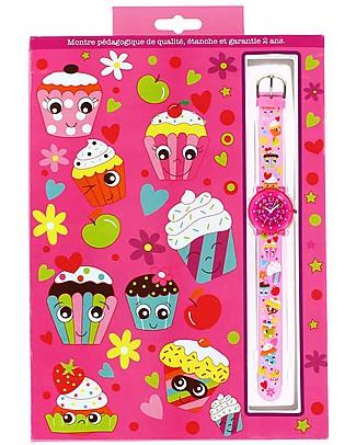 BabyWatch Zap Orologio Pedagogico - Cupcake (Perfetto già dai 6 anni!) Orologi Pedagogici
