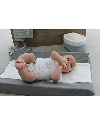 Bamboom Body Maniche Corte 0-6 mesi, Bianco - Bambù Bio Elasticizzato Body Manica Corta
