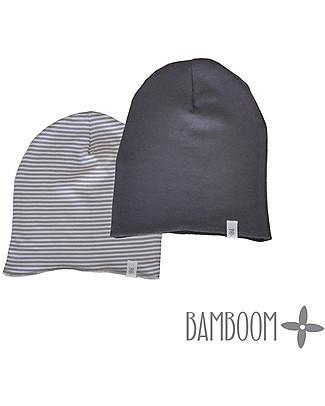 Bamboom Cappello a righe Grigio/Bianco - Bamboo e Cotone Cappelli