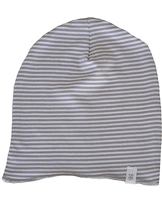 Bamboom  Stripe White/Grey Beanie - Bamboo and Cotton  Hats