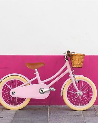 Banwood Bicicletta Classic Con Pedali + Casco, Rosa - Da 4 a 7 Anni Biciclette