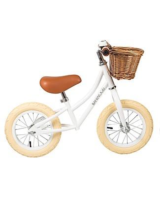 Banwood Bicicletta Senza Pedali First Go, Bianca - Per Bambine da 3 a 5 anni! Biciclette Senza Pedali