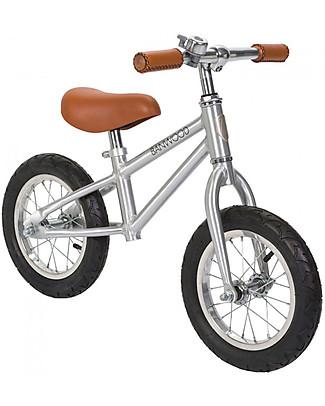 Banwood Bicicletta Senza Pedali First Go, Chrome - Per Bambini da 3 a 5 anni! Biciclette Senza Pedali