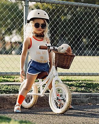Banwood Bicicletta Senza Pedali First Go con Casco, Bianco - da 3 a 5 anni! Biciclette Senza Pedali