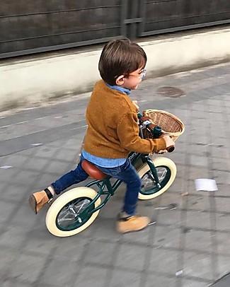 Banwood Bicicletta Senza Pedali First Go con Casco, Verde Scuro - da 3 a 5 anni! Biciclette Senza Pedali