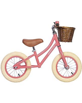 Banwood Bicicletta Senza Pedali First Go, Corallo - Per Bambine da 3 a 5 anni! Biciclette Senza Pedali