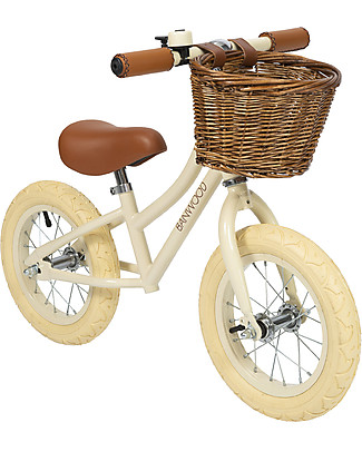 Banwood Bicicletta Senza Pedali First Go, Crema - Per Bambine da 3 a 5 anni! Biciclette Senza Pedali