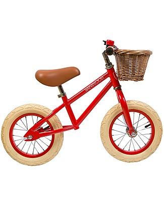 Banwood Bicicletta Senza Pedali First Go, Rossa - Per Bambini da 3 a 5 anni! Biciclette Senza Pedali
