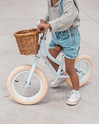 Banwood Bicicletta Senza Pedali First Go, Sky - Per Bambine da 3 a 5 anni! Biciclette Senza Pedali