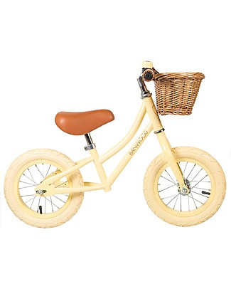 Banwood Bicicletta Senza Pedali First Go, Vaniglia - Per Bambine da 3 a 5 anni! Biciclette Senza Pedali