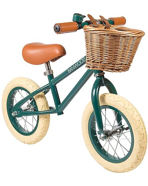 Banwood Bicicletta Senza Pedali First Go Verde Scuro Per Bambini