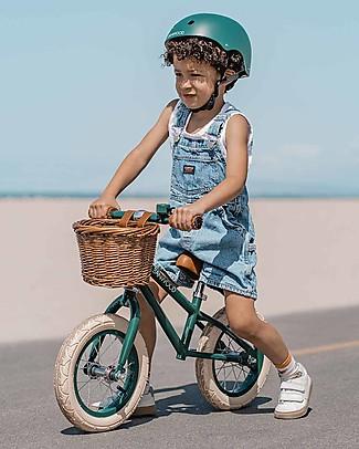 Banwood Bicicletta Senza Pedali First Go, Verde scuro - Per Bambini da 3 a 5 anni! Biciclette Senza Pedali