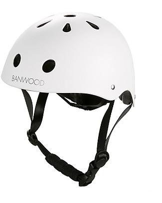 Banwood Casco Classico per Biciclette, Bianco - Per Bambine da 3 a 7 Anni! Biciclette Senza Pedali