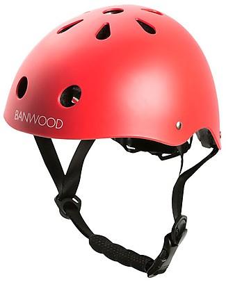 Banwood Casco Classico per Biciclette, Rosso - Per Bambini da 3 a 7 Anni! Biciclette Senza Pedali