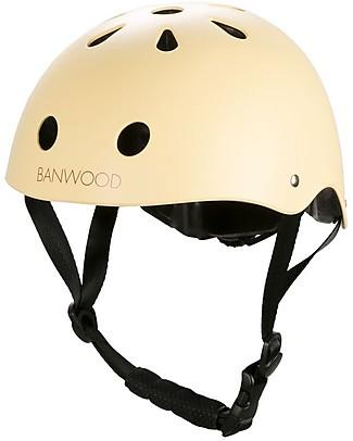 Banwood Casco Classico per Biciclette, Vaniglia - Per Bambine da 3 a 5 Anni! Biciclette Senza Pedali