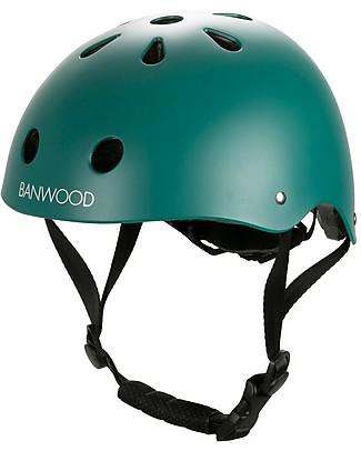 Banwood Casco Classico per Biciclette, Verde Scuro - Per Bambini da 3 a 5 Anni! Biciclette Senza Pedali