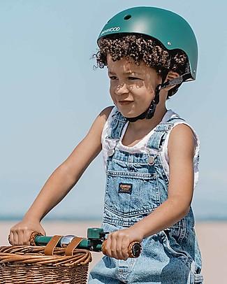 Banwood Casco Classico per Biciclette, Verde Scuro - Per Bambini da 3 a 7 Anni! Biciclette Senza Pedali