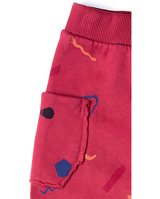 Barn of Monkeys Baby Pantaloni in Felpa Imagine, Rosso - 100% cotone bio  Pantaloni Lunghi