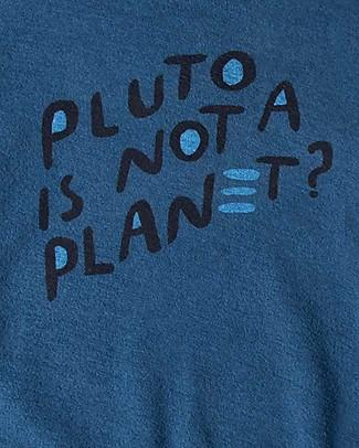 Barn of Monkeys Felpa Maniche Lunghe Pluto, Azzurro - 100% cotone bio Felpe