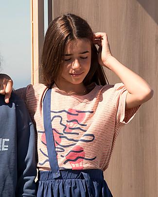 Barn of Monkeys T-shirt Maniche Corte Mongolfiere, Pesca - 100% cotone bio T-Shirt e Canotte