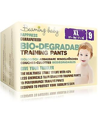 Beaming Baby Mutandine da Apprendimento Ecologiche Taglia XL - 19 Mutandine Pannolini Biodegradabili