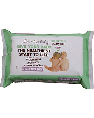 Beaming Baby Salviettine Umide Organiche all'Aloe Vera - 72 Pezzi - Senza Profumo Salviette