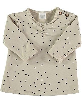 Bean's Barcelona Big Sky Printed Sweat T-shirt, Stone - 100% organic cotton Long Sleeves Tops