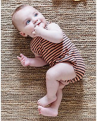 Bean's Barcelona Body a Righe Boccadasse, Pesca - Cotone bio Body Manica Corta