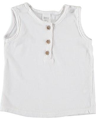 Bean's Barcelona Canotta Baby Roses, Bianco - Cotone bio T-Shirt e Canotte
