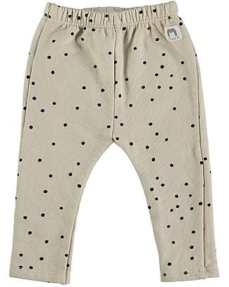 Bean's Barcelona Leggings in Felpa Dolomiti, Grigio Chiaro - 100% cotone bio Pantaloni Lunghi
