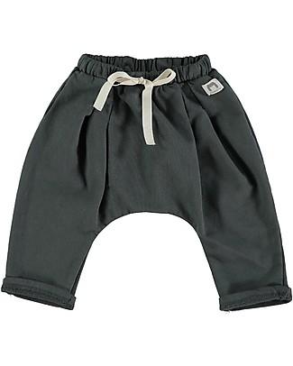 Bean's Barcelona Pantaloni in Felpa con Cavallo Basso Montana, Antracite - 100% cotone bio Pantaloni Lunghi