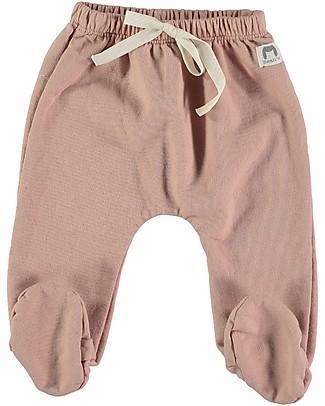 Bean's Barcelona Pantaloni in Felpa con Piedini Chatel, Rosa - 100% cotone bio Pantaloni Lunghi
