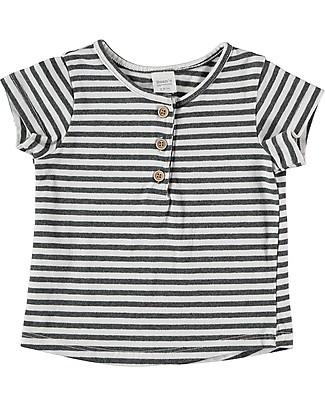 Bean's Barcelona T-Shirt a Righe Mahón, Bianco - Cotone bio T-Shirt e Canotte